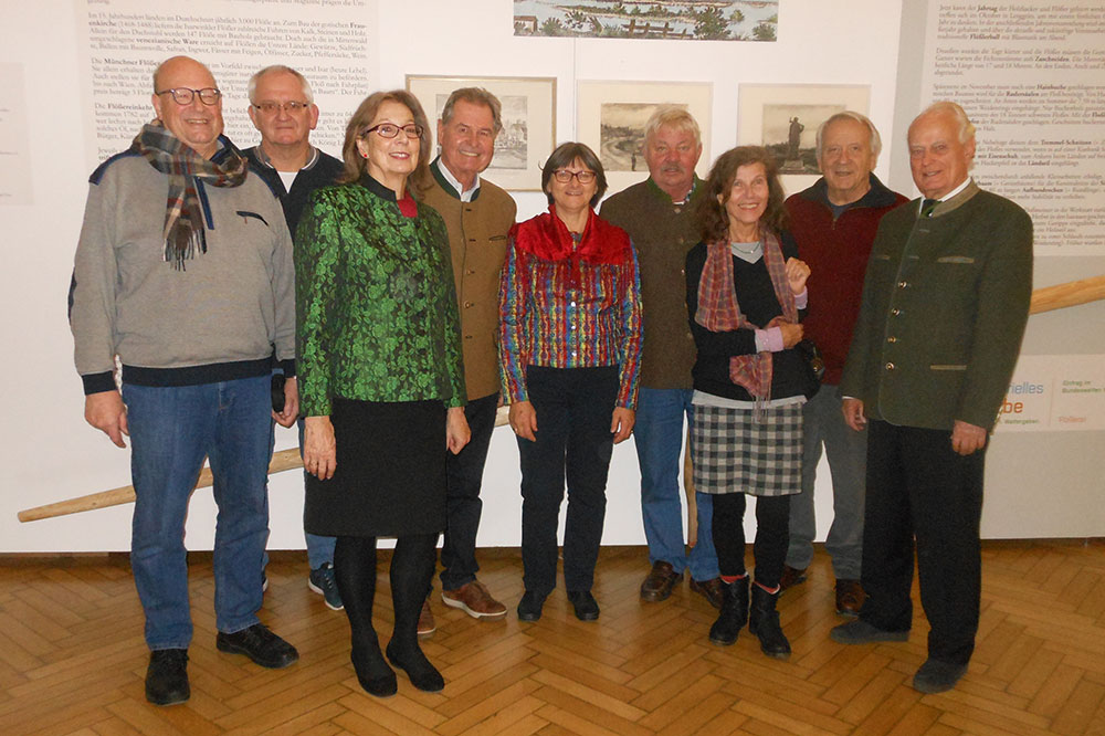 Der Vorstand des Flösser-Kulturvereins, März 2020